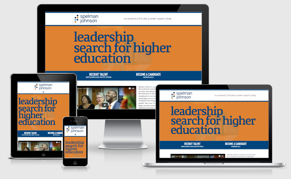 Spelman Johnson website in different responsive layouts and devices.