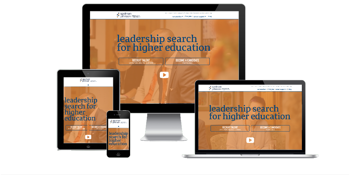 Responsive layout examples of the Spelman Johnson website