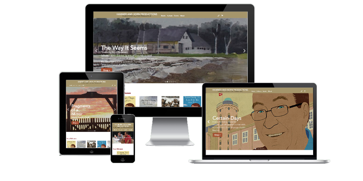 Responsive layout examples of the Hammer and Horn website